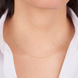 Mini Diamond Asymmetrical Initial Necklace