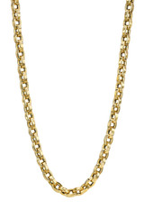 14k Gold Oval Link Chain Necklace