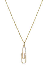 Diamond Paper Clip Necklace