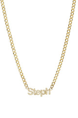 Cuban Link Diamond Name Choker