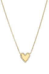 Diamond Frame Heart Necklace