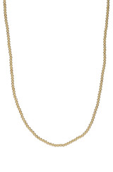 14k Gold 2mm Bead Necklace