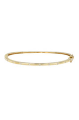 14k Gold Diamond Dot Bangle