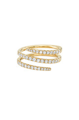 Pave Diamond Spiral Ring