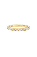 Bold Double Row Segment Eternity Band