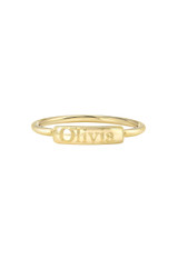 14k Gold Engraved Nameplate Ring