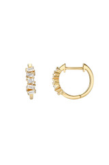 Diamond Baguette Cluster Huggie Earrings - Out of Stock