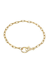14k Gold Diamond Clasp Bracelet