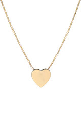 14k Gold Large Heart Necklace