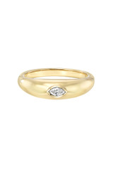 14K Diamond Marquise Dome Ring