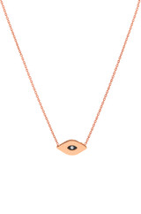 14k Gold Enamel Evil Eye Necklace
