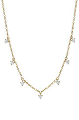 3 Prong Diamond Shaker Necklace