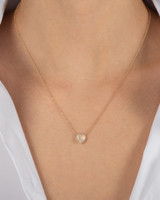 Diamond Moonstone Heart Necklace