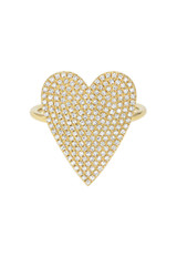 Large Diamond Heart Ring- Out of Stock