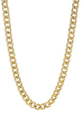 14k Gold Large Curb Link Chain Necklace
