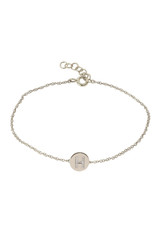 Diamond Initial Disc Bracelet