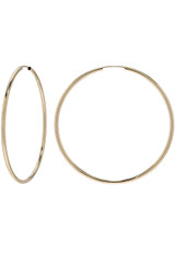 14k. Gold Large Thread Hoop Earrings