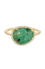 Diamond Emerald Ring - Out of Stock