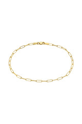 14k Gold Open Link Chain Anklet