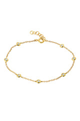 14k Gold Diamond by the Yard Bracelet