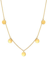 14k Gold Fringe Discs Necklace - Out of Stock