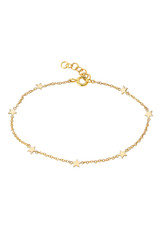 14k  Gold Star Charms Bracelet