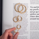 14k Gold Medium Thick Hoop Earrings