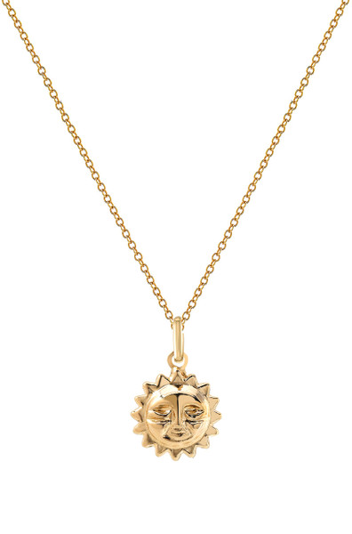 14k gold sun necklace