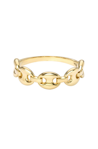 14k Gold Oval Link Chain Ring