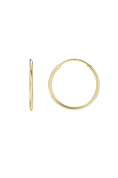 14k Gold Small Thread Hoop Earrings