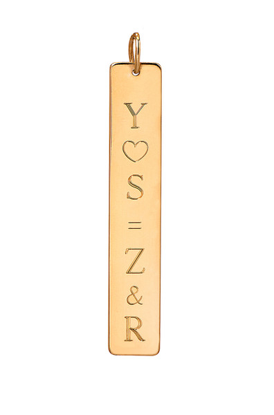 14k gold vertical nameplate