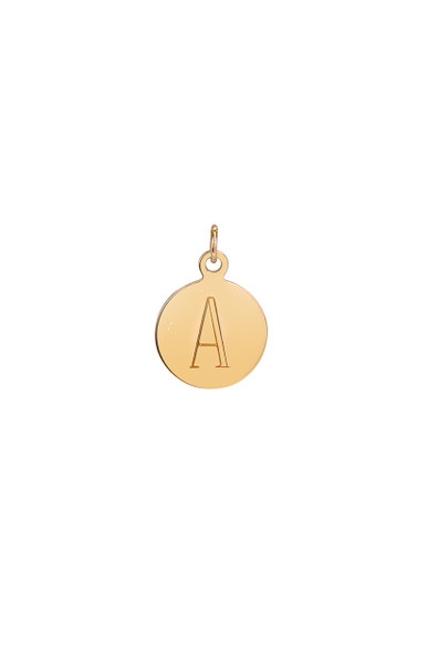 14k gold engraved disc