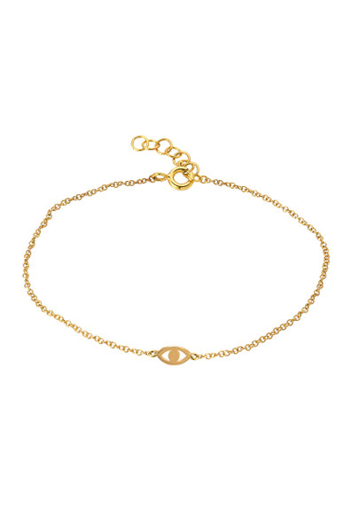 14k Gold Mini Evil Eye Bracelet