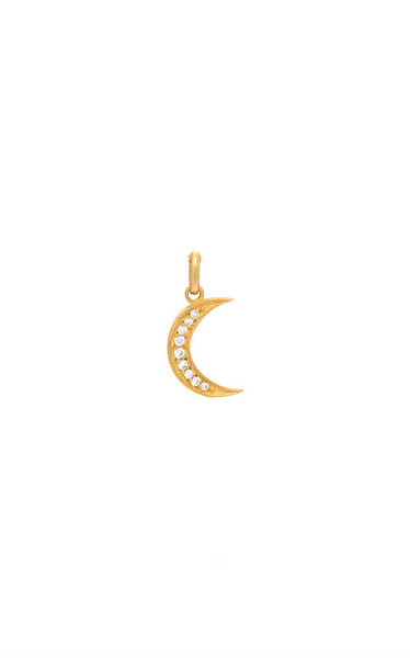 14k gold diamond moon