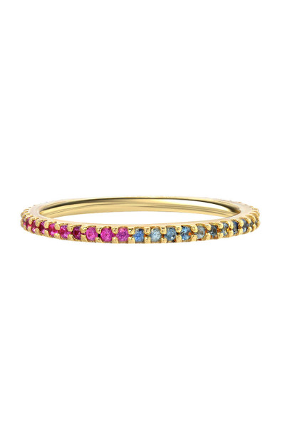 Eternity Split Birthstones Band