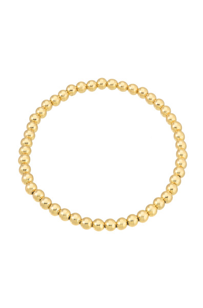 4mm Gold Bead Bracelet