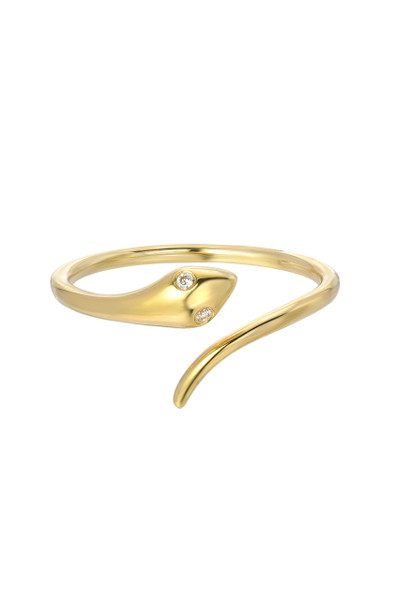 14k gold diamond snake ring