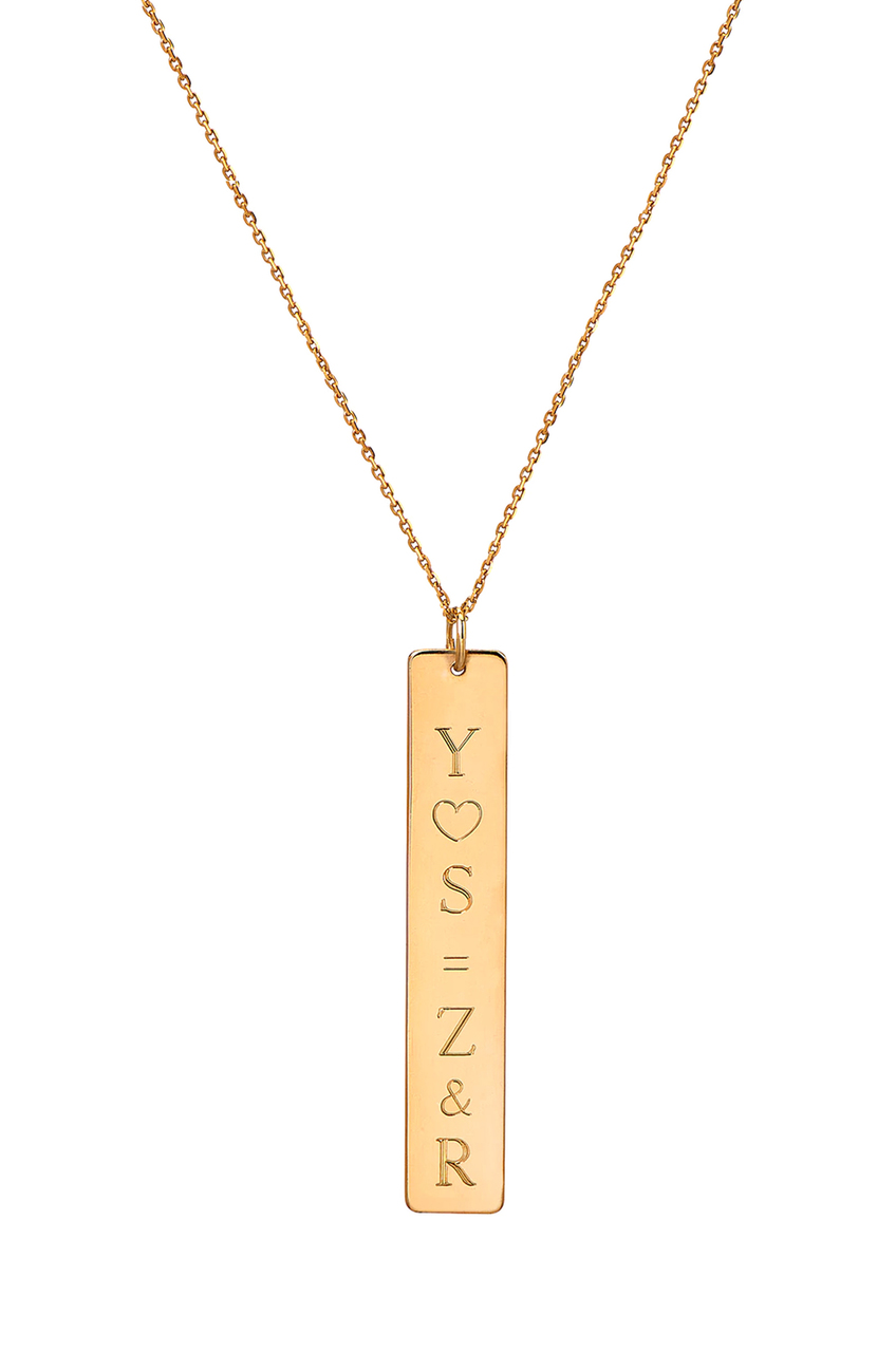 c07429e58 Vertical nameplate necklace | Zoe Lev jewelry