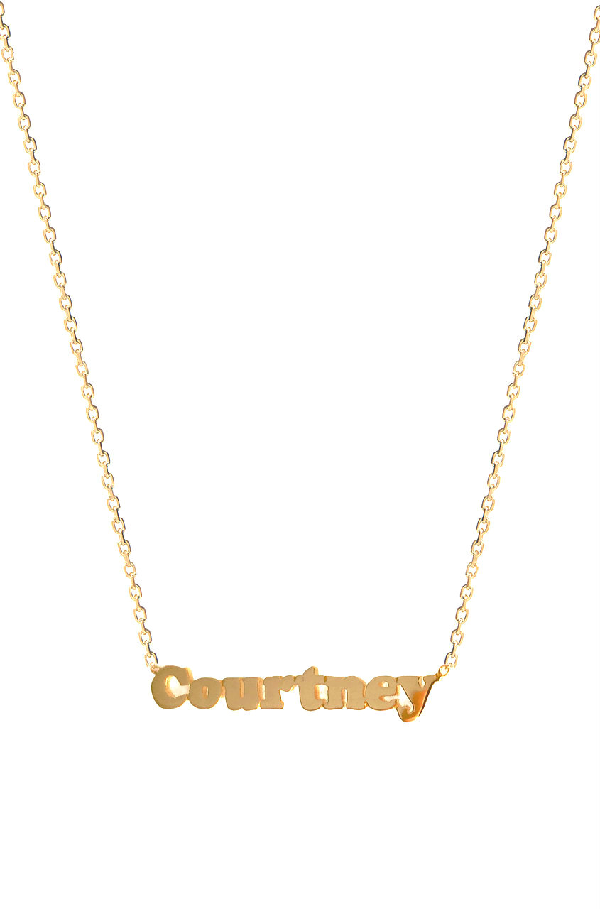 Gold Name Necklace Zoe Lev Jewelry