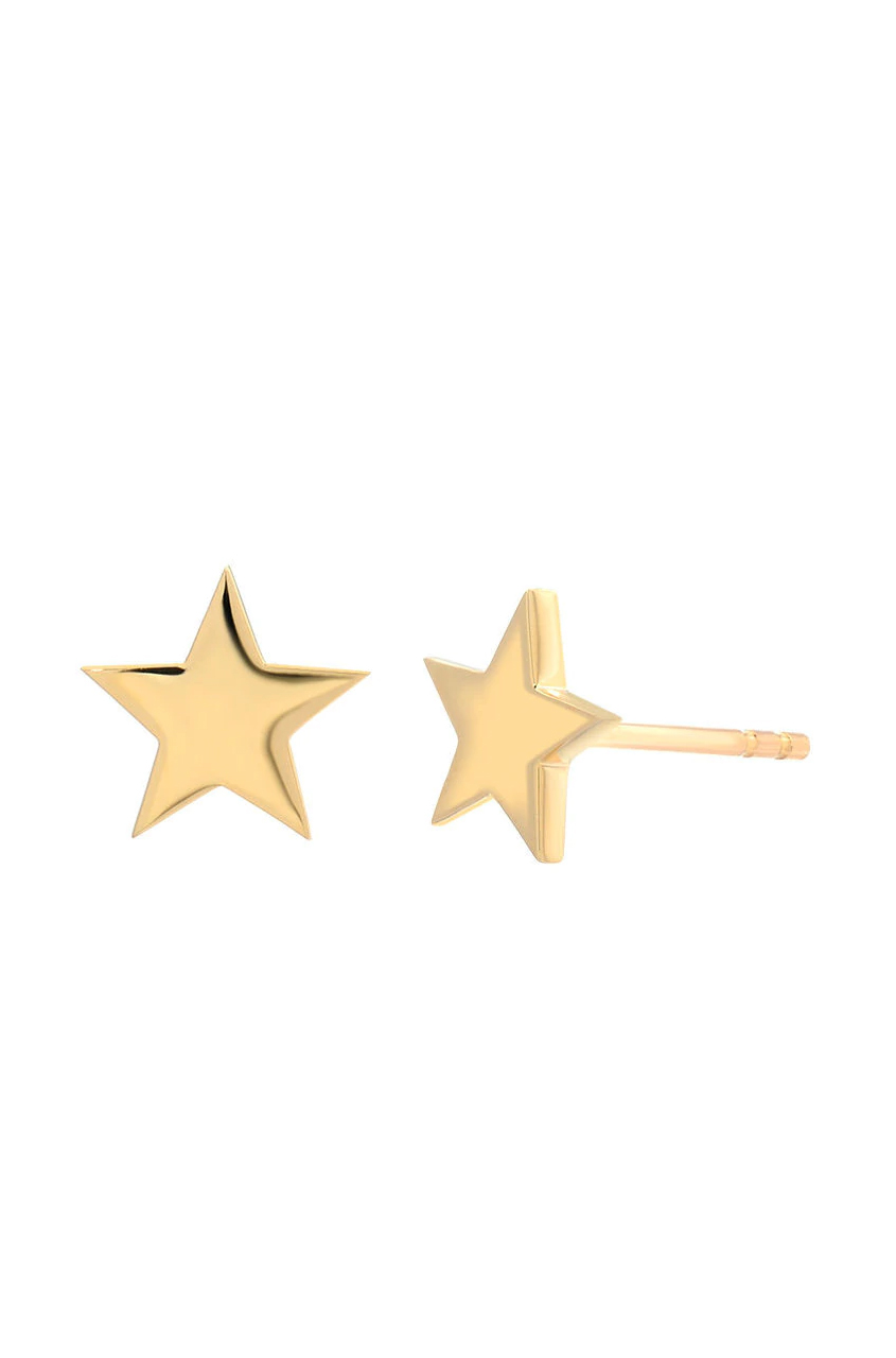 cadcaa79a 14k gold star stud earrings ...