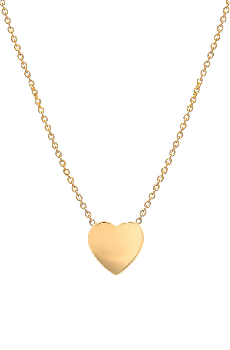 0475a56f1a24 gold heart necklace 14k ...