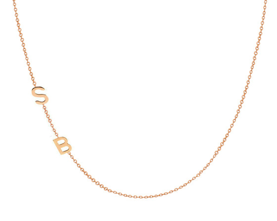 Letter charm necklace initial necklace. Initial pendant Personalized necklace monogram necklace 2 Small white 14k gold necklace