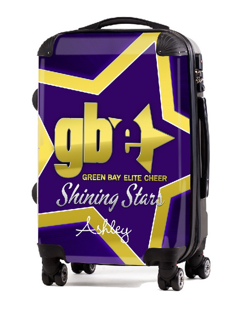 "Green Bay Elite Cheer SHINING STARS 20"" Carry-on Luggage"