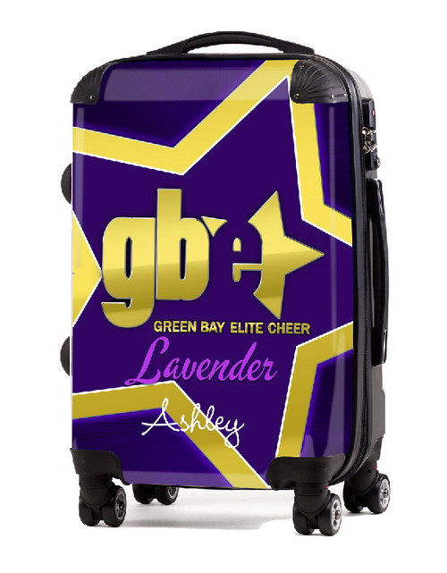"Green Bay Elite Cheer LAVENDER 24"" Check In Luggage"