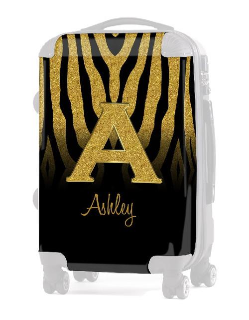 "INSERT Gold Zebra Gold Initial INITIAL  20"" Luggage"