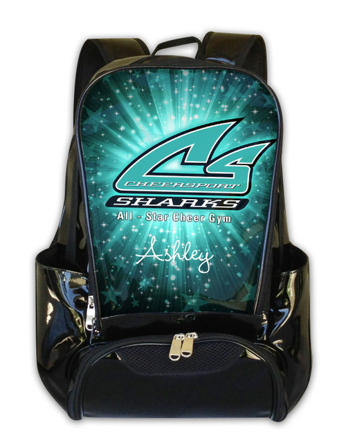 Cheer Sport Sharks Personalized Backpack