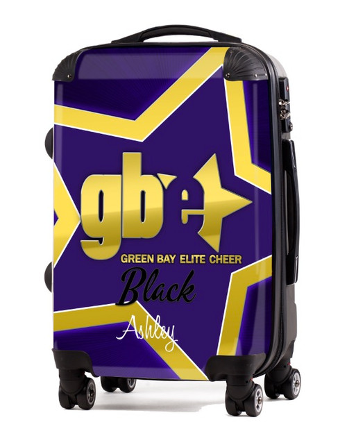 "Green Bay Elite Cheer Black 20"" Carry-on Luggage"