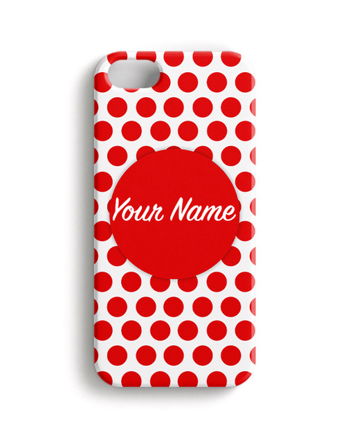 Red Polka Dots - Phone Snap on Case