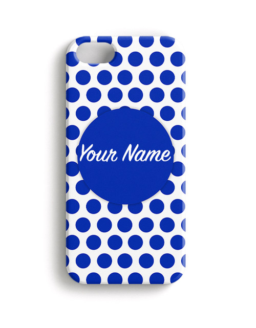 Blue Polka Dots - Phone Snap on Case