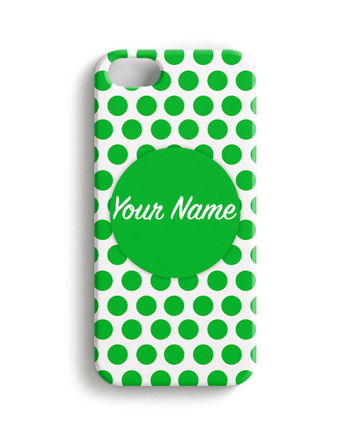 Green Polka Dots - Phone Snap on Case